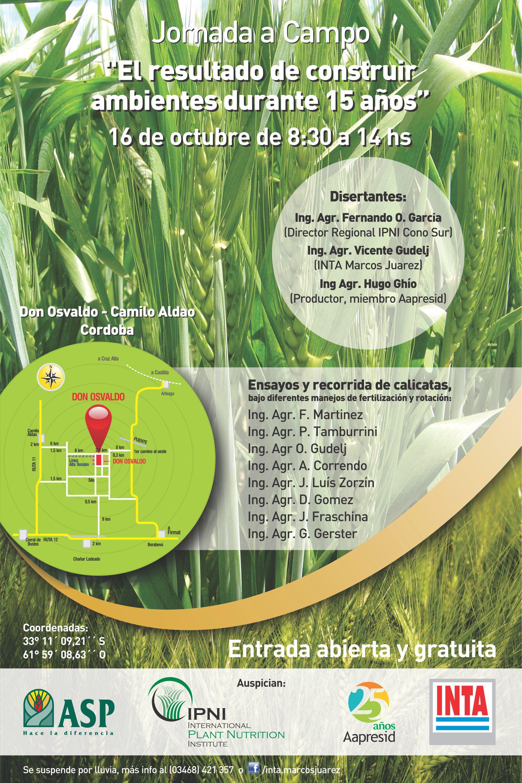 Afiche Jornada Camilo Aldao 16 Oct 2014